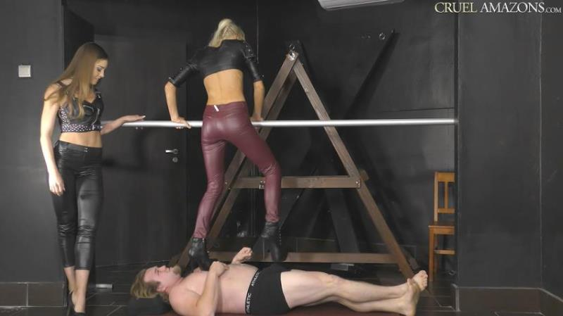 CruelAmazons.com/Cruel-Mistresses.com: Mistress Lucy, Mistress Ariel - Lucy And Ariel Makes It Worse For The Slave [HD 720p] (350.48 Mb)